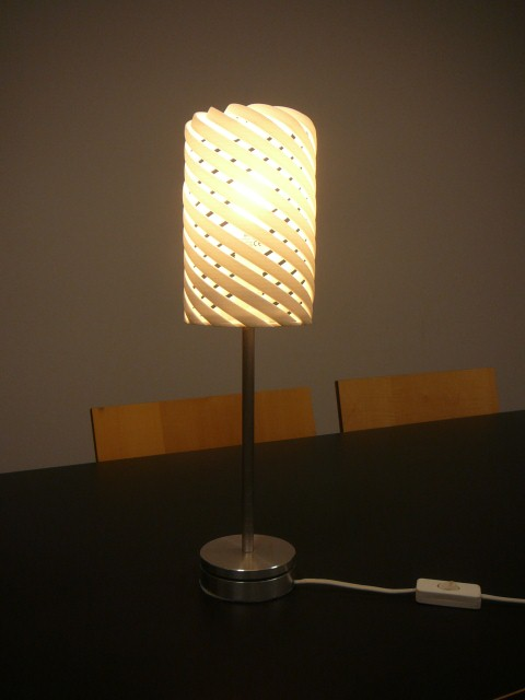 Helix lamp side view